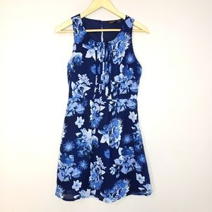 Dex Mini Fit and Flare Small Floral Lined Dress